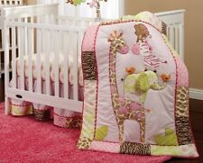 Carter's Jungle Collection 7 Piece Crib Bedding Set daisies and dots, rickrack t