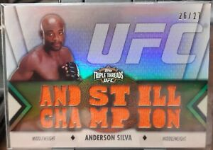 "Anderson Silva ""And Still Champion 2013 Topps UFC Knockout Triple Threads #26/27"