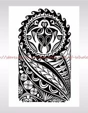"US SELLER-tribal black totem large 8.25"" temporary arm tattoo bracelet tattoos"