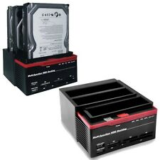 DOCKING STATION PER 3 HARD DISK COMBO SATA IDE 2,5 E 3,5 TRE SLOT HDD BOX USB PC