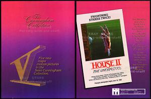 SEAN CUNNINGHAM Coll.__Original 1986 Trade print AD / promo supplement__HOUSE II