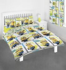 Minions 'Let'S Try Harder' Rotary Double Bed Duvet Quilt Cover Set Brand New