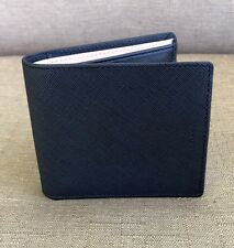 NEW COACH MEN'S SAFFIANO LEATHER DOUBLE BILFOLD WALLET