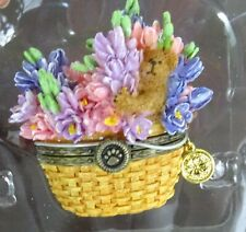 Boyds Beary Blossoms Treasure Box - July Birthday figurine A bloom for every mo