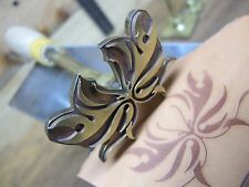 Brass BUTTERFLY Leather Craft Bookbinding Press embossing die Letterpress