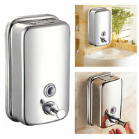 500Ml Stainless Steel Soap/Shampoo Dispenser Lotion Pump Action Wall Mounted LM