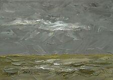 The Marsh ORIGINAL LANDSCAPE PAINTING Bleak Empty Steve Greaves Art Kyffin Swamp