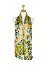 AamiraA Garland Mulberry Chiffon Silk Stole Women Oblong Scarf Free Shipping