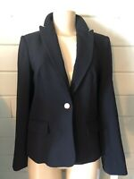 Calvin Klein Suit jacket Blazer Navy Blue Notched Collar Single Button $129 10