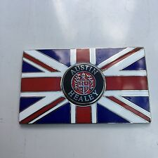 Austin Healey Union Jack Gb Messing Emaille Klassisch Auto Abzeichen -
