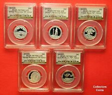 2013 S National Park ATB Proof Silver PCGS70 DCAM Five Coin Quarter Set