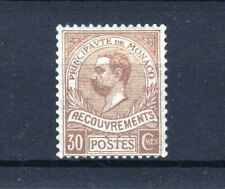 "MONACO STAMP TIMBRE TAXE 10 "" PRINCE ALBERT 1er 30c BISTRE "" NEUF xx LUXE  R618"