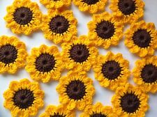 8xNew Lovely Crochet Summer Flowers Applique Embellishment-Sunflowers