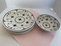 FURNIVALS Denmark Lot of 5 Soup/Cereal Bowls Made in England