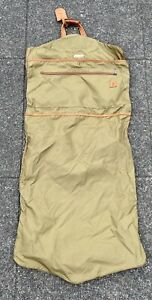 Hartmann Garment Bag Brown Nylon Leather Trim Insert Travel Luggage