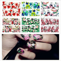Flower Nail Art Wrap Stickers Decals Water Transfer Manicure Tips Decoration DIY