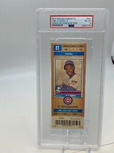 2012 Chicago Cubs Ticket Stub PSA 10/3 Astros Last game as MLB NL team