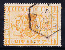 BELGIUM 1879 SGP67 80c with two staple holes - good used. Catalogue £110