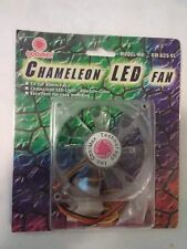 New Coolmax Computer Case Fan, Chameleon w/muliple Color LEDs, 80mm nice