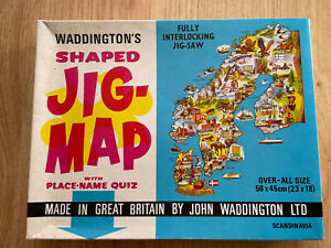 Waddingtons Shaped Jig-Map Design 558 Scandinavia Jigsaw Puzzle