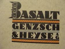 Original Vintage 1926 TYPEFACE CATALOG -- BASALT / GENZSCH & HEYSE modern font