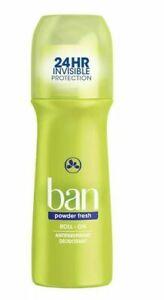 BAN POWDER FRESH 3.5 OZ ROLL-ON BRAND NEW 24 HR PROTECTION Exp 12/21