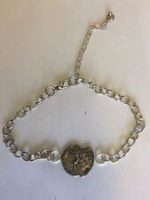 Denarius Of Nero Pewter Coin WC21 Made From English Pewter on Anklet / Bracelet