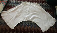 Antique White Cotton Bloomers Pantalooms w/ Lace & Embroidery