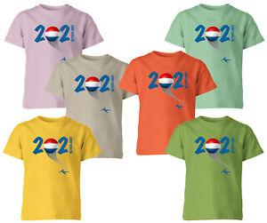 Netherlands 2021 Football Kids T Shirt Boys Soccer Training Jersey Sports Tee