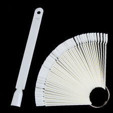 50Pcs False Display Nail Art Fan Wheel Polish Practice Pop Tips Sticks Tools DIY