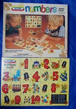 Vintage VICTORY NUMBERS plywood childrens jigsaw puzzle 28 pieces
