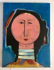 Alberto Ulloa, Signed Original Woman Canvas Painting Dominican Republic Art