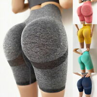 3/4 Damen Capri Leggings Yoga Hose Sporthose Fitness Jogginghose Sport Leggins