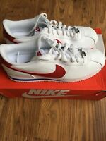 nike Mens classic cortez leather white varisity red trainers size uk 11.5 BNIB