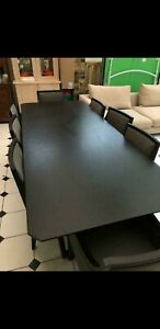 Camerich verge model dining table and 8 baroque chairs new costs £5986