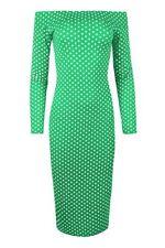 Vestiti da donna a manica lunga verde taglia M