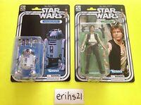 "Star Wars 6"" Black Series 40th ANNIVERSARY R2-D2 ARTOO-DETOO and HAN SOLO MOC"