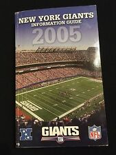 2005 NEW YORK GIANTS MEDIA GUIDE- ELI MANNING TIKI BARBER AMANI TOOMER BURRESS