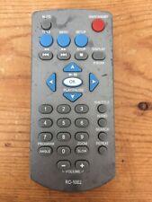 Genuine Audiovox DVD Video Player Remote Control Model RC-1002 Silver OEM