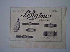 advertising Pubblicità 1930 OROLOGI LONGINES