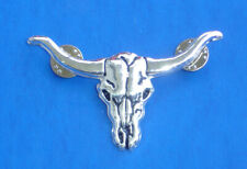 Western Antiqued Silver Longhorn Hat Pin/Tie Tack/Lapel Pin