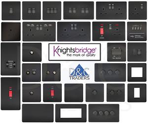 Knightsbridge Screwless light switches & sockets Matt Black series range