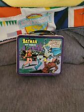 1966 Batman and Robin Metal Lunchbox with Thermos by Aladdin National Periodical