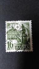 FRANCE 1947 OCCUPATION ALLEMAGNE BADE timbre 6 CHATEAU RASTATT oblitéré VF STAMP