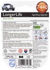 Turn Signal Light Bulb-LongerLife - Twin Blister Pack Philips 7440LLB2