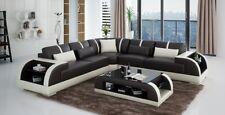 Ledersofa Designersofa Couch Polster Ecksofa Sofa Couch Eckcouch Neu Rodos-Braun