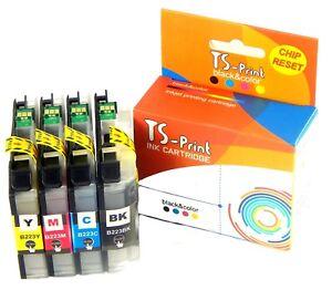 Für Brother LC223XL BK + Farbe Set Drucker Tinten-Patronen MFC-J4620DW J4625DW