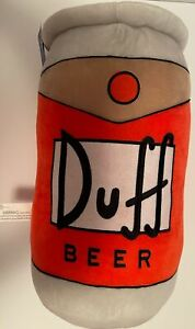 Universal Studios The Simpsons Duff Beer Can Plush Pillow New