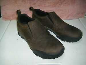 Merrell Men's Jungle Moc Waterproof Casual Slip-On Shoes Size 12 Brown Leather