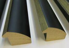 4m (4x100cm) Wide Reverse Black & Silver Picture Frame Moulding 40mm wide LJ2